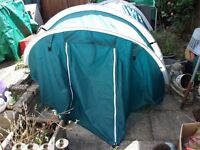 2 MAN DOME TENT IN CARRY BAG 200 x 140 x 130cm approx BERTH FESTIVAL CAMPING FREEDOM SNOWDON