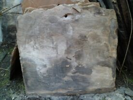 Approx 150 sandstone roof tiles.