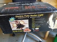 Patio umbrella heater-light