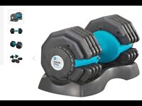 Dumbbell Pair...Men's Health Adjustable Dial Dumbbell 50kg (2x25kg)...Workout Weights