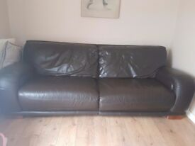 leather 2 and 3 seater couches for sale