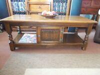 (Solid Oak) Coffee Table. (Tudor Style)