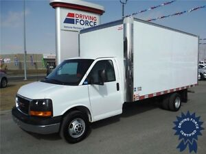 2015 GMC Savana 16ft Cube Van - 14,912 KM - CVIP Certified