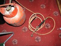 Calor Gas Red Propane Bottle,Hose And Blow Torch Attachment
