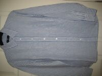 "M&S BLUE HARBOUR LONG SLEEVE STRIPED SHIRT - M (38-40"") - (Kirkby in Ashfield)"