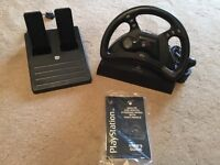 Mad catz PlayStation steering wheel & pedals