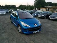 Peugeot 207 1.4l 5dr long mot service history excellent condition