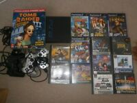 ORIGINAL SONY PS2 WITH GAMES BUNDLE