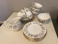 Duchess bone China tea set (cups, saucers, side plates, milk jug and sugar bowl)