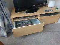 TV - Hifi Cabinet (c/w Shelf + 2 x Drawers, Ikea)
