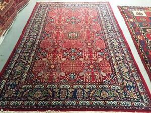 Persian Rug, Handmade Rug, Wool Rug Red (Free Shipping)