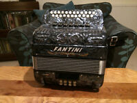 Fantini Button Accordion Melodeon B/C Refurbished