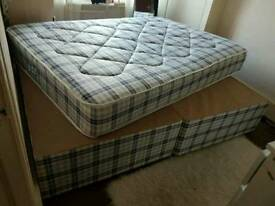 Double divan base with mattress all new