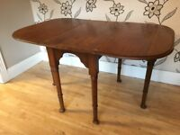 vintage traditional drop leaf gate leg dining table