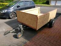 Large braked trailer 8ft by 4ft10 approx