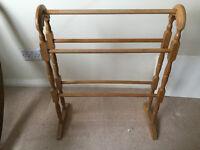 Wooden towel rail