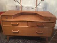 G plan Brandon dressing table solid oak with mirror and electrics