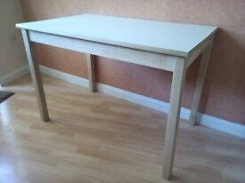 Vintage Retro White Formica Kitchen Dining Table Beech Frame