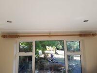 Chunky Pine Curtain Pole x2 3metres