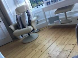 Reclining chair and foot- stool for sale