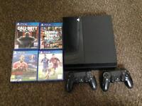 PS4 500GB BLACK 2 CONTROLLERS 4 GAMES‼️‼️