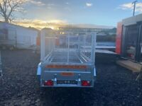 BRAND NEW MODEL 8.7x4.2 TWIN AXLE TRAILER WITH 80CM MESH AND TIPPING FEATURE