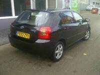 2003/53 Toyota Corolla 1.4 T3 5dr Hatchback Manual Low Miles