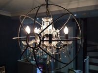 Beautiful foucalt chandelier - stunning piece to brighten any room!