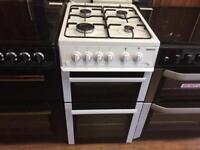 Beko white 50cm gas cooker