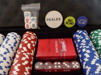 300 and 500 piece poker sets in metal cases {will sell separately}