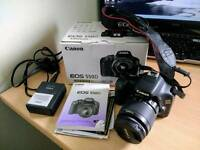 Canon EOS 550D DSLR digital camera - c/w EFS 18-55mm lens, original box and contents.