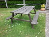 Pub Style Picnic Bench Table