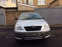 Toyota Corolla, 1.4 petrol, 2002 (52 reg) 39,260 miles, 11 months mot