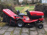 Westwood T50 garden lawn tractor/grass sweeper, Briggs & Stratton 500cc petrol, as new, June 2014