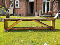 "6Ft 2"" Solid Oak Side Table / Bench"
