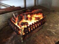 Log effect fire