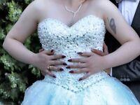 Sparkling Crystal Beading Mori Lee Bridal Wedding Dress