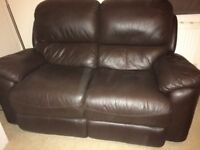 2 Leather electric reclining Sofa's