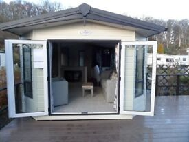 Brand new Carabuild Serene 38 x 12 Holiday home . Central heating & double glazed with patio doors