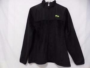 FILA SPORT black zip front exercise, workout, running, jogging, fitness, outdoor, black fleece jacket BNWOT