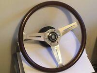 Vintage Nardi Torino Wooden Steering wheel 365mm