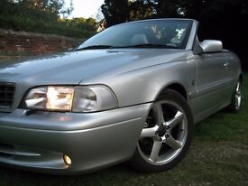 Extremely rare manual Volvo T5 turbo C70 convertible (240bhp) 12month MOT - superb!