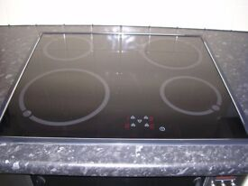 Ceramic hob and built-in double oven