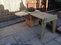 Planter and bench solid hand made , free delivery