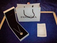 Ladies Genuine Pandora Pendant with Charms