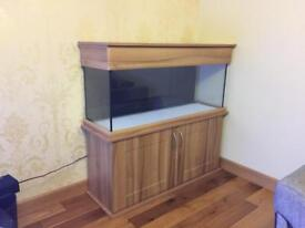 4ft Seashell aquarium and heater/lights/filters