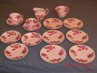 Foley bone china, Century Rose, 1940s Signed Paul Granet