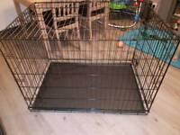 Large folding dog crate
