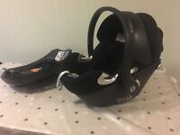 Cybex Aton q car seat with isofix base
