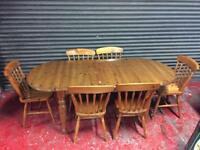 Ducal extender table and chairs (delivery available)